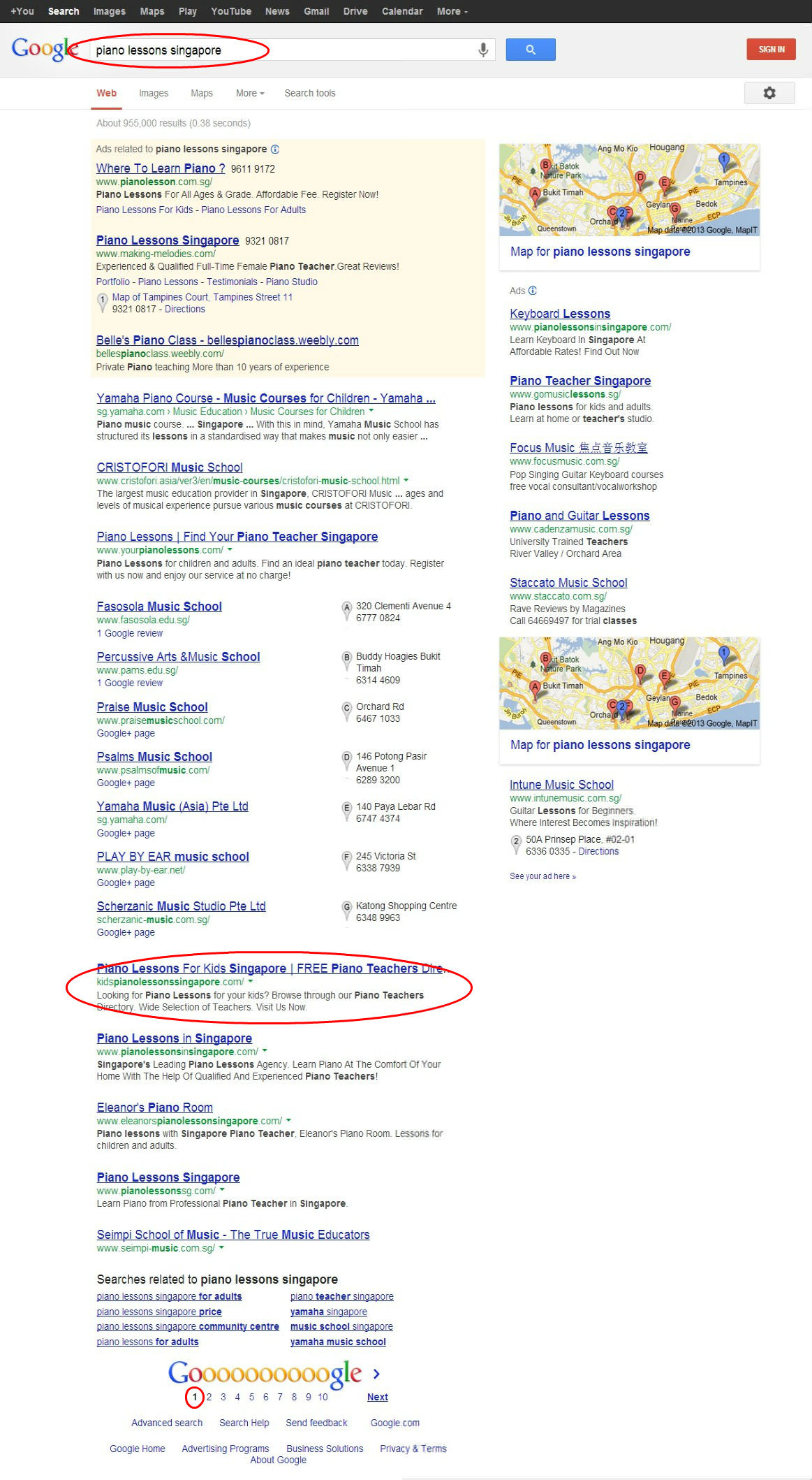 SEO Ranking Results in Serp